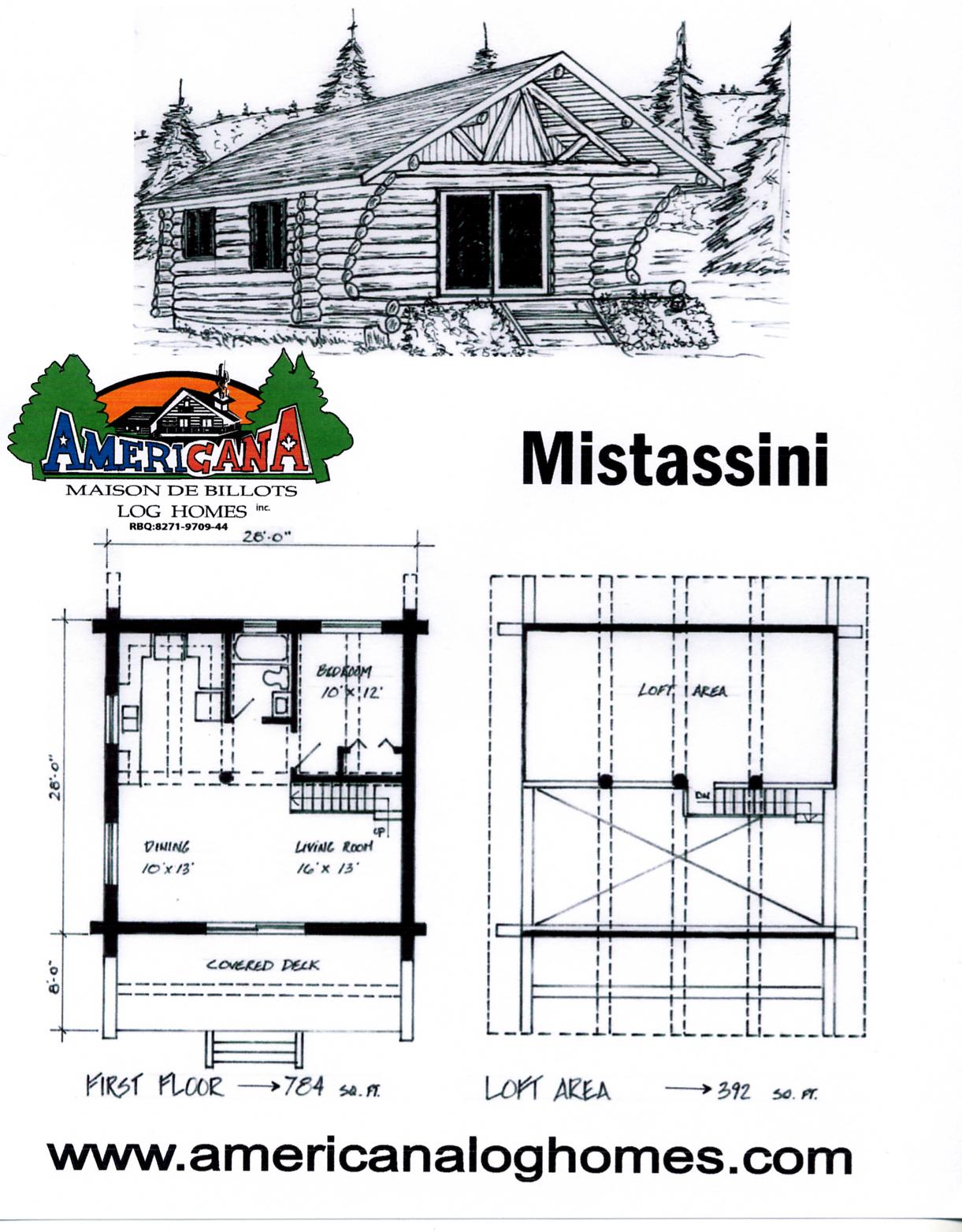 Mistassini americana log homes for Americana homes